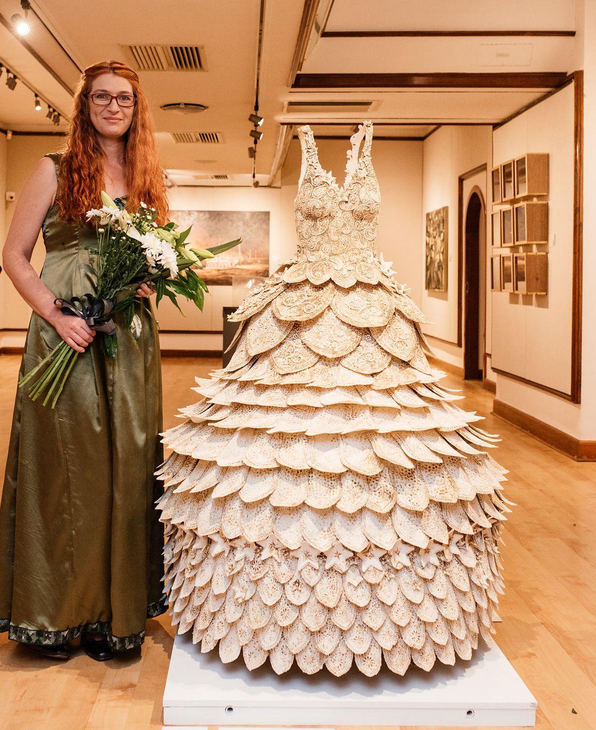 Ceramic wedding dress named Runner-up of the 2016 Phatshoane Henney ...